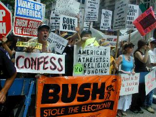 anti bush protestors