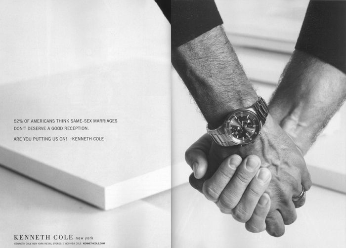 Kenneth Cole Ad Pro Gay Marriage